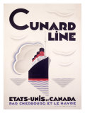 Cunard Line, U.S to Canada Reproduction proc&#233;d&#233; gicl&#233;e