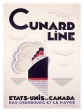 Cunard Line, U.S to Canada Giclee Print