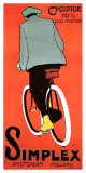 Vintage 1915 Dutch Simplex Bicycle Poster Lámina giclée