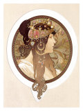 Byzantine Brunette, 1897 Giclee Print by Alphonse Mucha