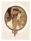 Byzantine Brunette, 1897 Giclee Print by Alphonse Mucha