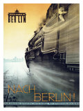 Nach Berlin Locomotive Railway Giclee Print