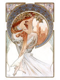 Poetry Giclee Print by Alphonse Mucha