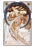 Danse Reproduction procédé giclée par Alphonse Mucha