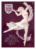 Ball Der Stadt Munchen Giclee Print by Richard Klein
