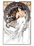 Alphonse Mucha - Hudba Digitálně vytištěná reprodukce