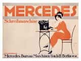 Mercedes Typewriter Giclee Print
