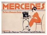 Mercedes Typewriter Giclee Print