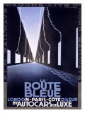 La Route Bleue Digitálně vytištěná reprodukce
