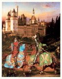 King Arthur and Sir Lancelot Plakater av Howard David Johnson