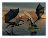 Fighting Dragons Photographic Print by John Junek