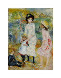 Children on the Seashore, Guernsey Prints by Pierre-Auguste Renoir