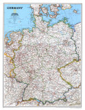 Carte de l&#39;Allemagne Poster