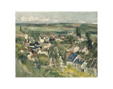 Auvers, Panoramic View, c.1875 Prints by Paul Cézanne