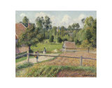 View from the Artist's Window, Eragny Print by Camille Pissarro