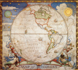Map of Discovery, Western Hemisphere Posters