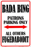 Bada Bing Plaque en m&#233;tal
