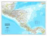 Mapa de América Central Póster