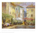 Courtyard Cafe Prints by Michael Longo