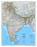 Landkarte von Indien Poster
