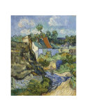 Houses at Auvers, c.1890 Prints by Vincent van Gogh