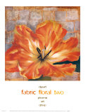 Fabric Floral II Print by  Dysart