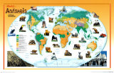 World of Animals Laminated Poster-