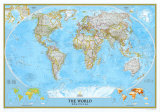 Mapa polityczna świata Plakaty