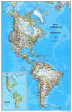 Amerikan mantereen poliittinen kartta Julisteet
