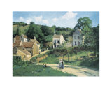 L'Hermitage at Pontoise, c.1867 Prints by Camille Pissarro