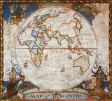 Map of Discovery, Eastern Hemisphere Poster