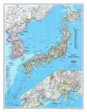Map of Japan And Korea Prints