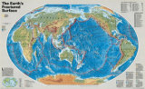 The Earth's Fractured Surface Map Art Print