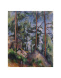 Pines and Rocks, c.1897 Prints by Paul Cézanne