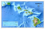 Map of Hawaii Prints