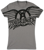 Juniors: Aerosmith - Winged Logo T Shirts