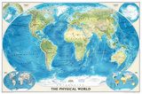 World Physical Map of the Ocean Floor Photo