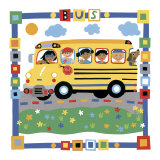 Bus Poster by Cheryl Piperberg