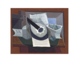 Still Life with a Guitar, 1925 Prints by Juan Gris