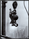 Construction Worker on Empire State Building Prints