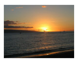 Sunset over Kaanapali Photographic Print by Chris M Burns
