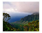 View of The Kalalau Valley, Kauai, Hawaii Photographic Print by George Oze