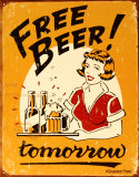 Free Beer Cartel de chapa