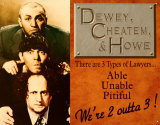 Dewey, Cheatum & Howe Tin Sign
