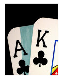Ace & King Of Clubs Giclee Print by Teo Alfonso