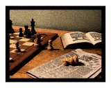 A Chess Study Giclee Print by Colin Marr