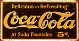 Coke – Weathered 1910 Logo Plakietka emaliowana