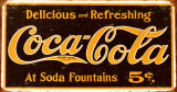 Coke – Weathered 1910 Logo Tin Sign