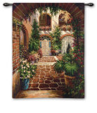 Courtyard Vista Wall Tapestry by  Twindini