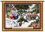 Twelve Days Of Christmas Wall Tapestry by Lynn Bywaters
